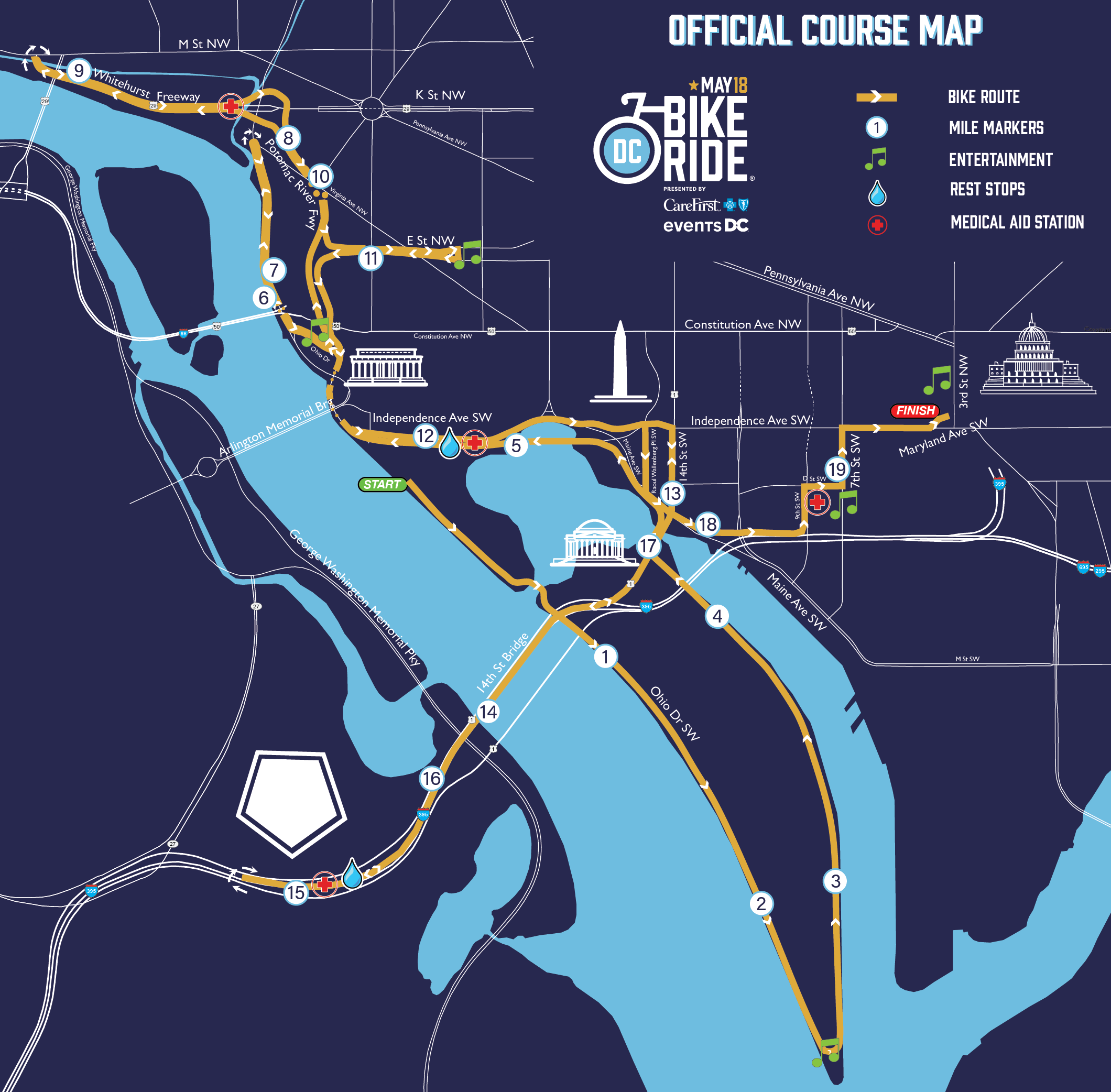 Course Map Dc Bike Ride